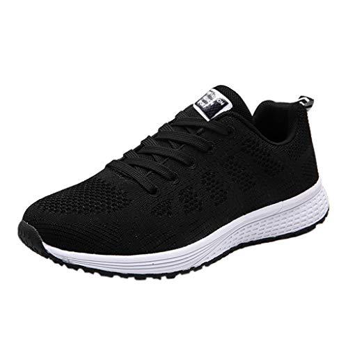 Logobeing Zapatillas Deportivas de Mujer - Zapatos Sneakers Zapatillas Mujer Running Casual Yoga Calzado Deportivo de Exterior de Mujer 35-40 (37, Negro)