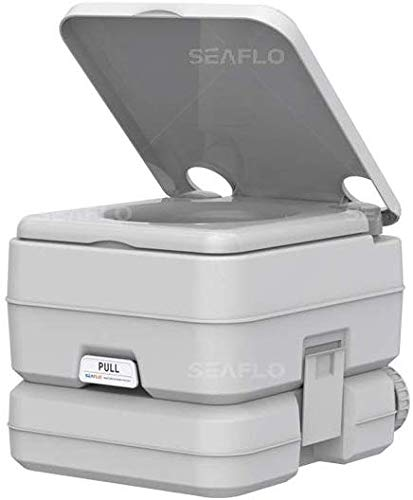 SEA FLO Portable Toilet for Marine, RV, Camping and Boat (2.6 Gallon)