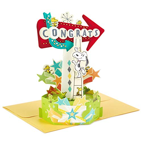 Paper Wonder Peanuts Snoopy and Woodstock 3D Pop Up Congratulations Card
