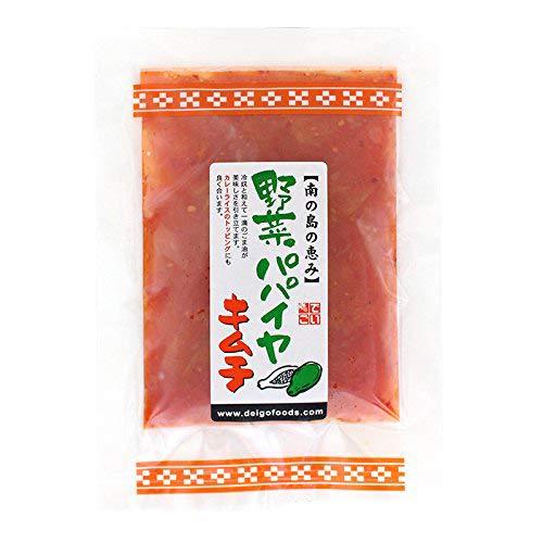 青パパイヤキムチ 袋入り 100g×1袋 でいごフーズ 沖縄定番食材の青パパイヤ 歯ざわりの良いピリ辛キムチ漬け