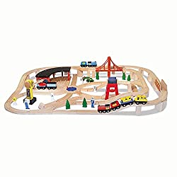 Best Toys for 3 Year Old Boys - Melissa & Doug Deluxe Train Set