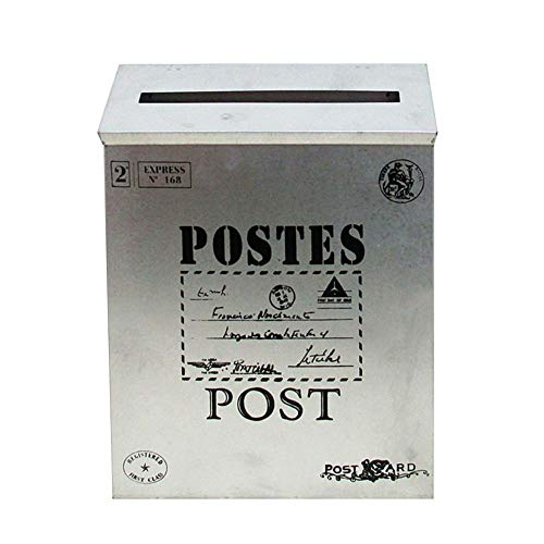 Brievenbus van aluminium voor buiten retro nostalgie brievenbus decoratieve folie ansichtkaarten 23 x 6 x 30 cm