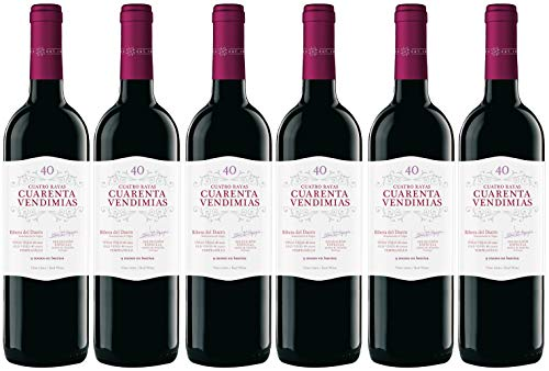 Cuatro Rayas Cuarenta Vendimias Ribera de Duero - 6 Botellas de 750 ml (Total: 4,5 L).