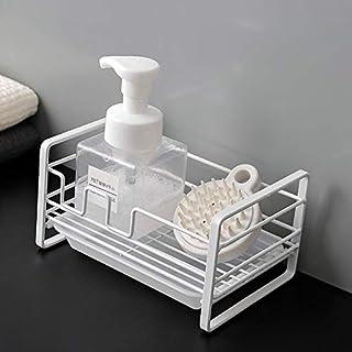 SHYPT Fer Faire éponge vaisselle tissu Rag rack Sink stockage protection anti-corrosion égouttoir panier avec plateau de c...