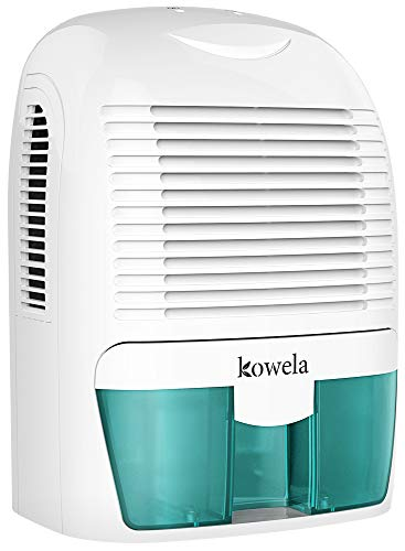 Kowela Electric Dehumidifier 1500ml, 2200 Cubic Feet(250 sq ft), Portable and Compact Quiet Dehumidifiers with Auto Shut Off for Home Bathroom Bedroom Basement Wardrobe RV