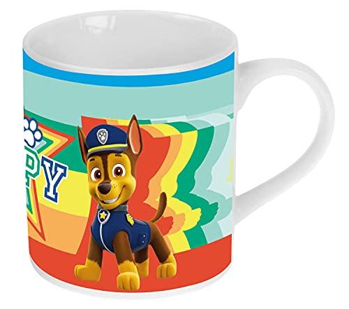 P:os 33609 - Taza con diseño de La Patrulla Canina y cambio de color, taza para niños, aprox. 200 ml, de porcelana, en caja de regalo, apta para microondas y lavavajillas