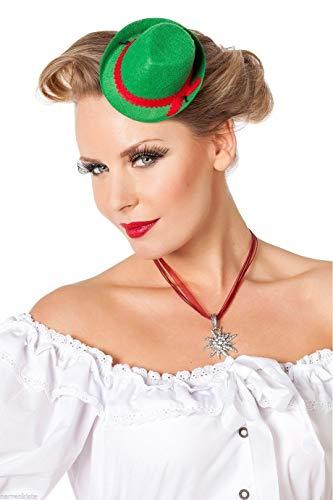 narrenkiste W9312-08 - Mini sombrero para mujer, color rojo