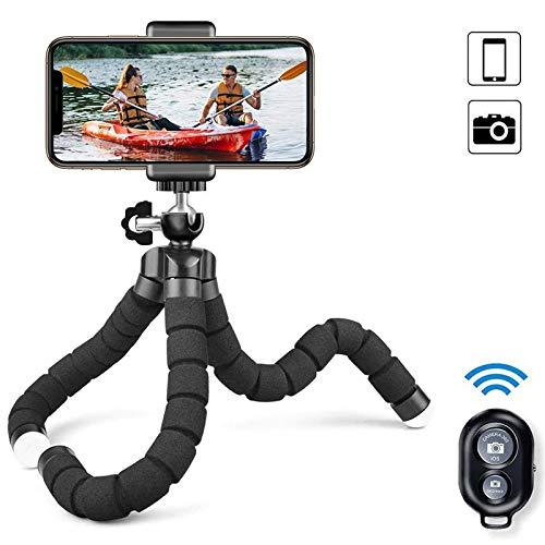 Trípode para Celular, Uplayteck Selfie Stick Tripod Mini Trípode Móvil Flexible 360°Rotación Teléfonos de Soporte con Control...