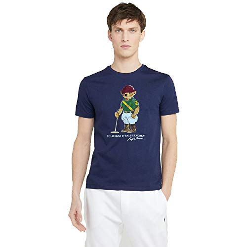 Ralph Lauren T-Shirt Uomo Polo Mens Athletics (M, Navy)