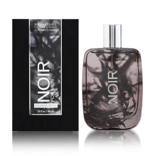 Bath and Body Works Noir Men Cologne Spray 3.4 Ounce Original Tall Slender Rectangle Bottle