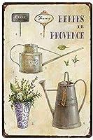 屋内および屋外のホームバーのコーヒーキッチンの壁の装飾のためのラベンダーヴィンテージスタイルの金属サイン鉄の絵画8X12インチ