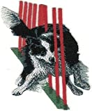 VirVenture 2 1/2' x 3 1/4' Border Collie Dog Breed Agility Trick Embroidery Patch Great for Hats, Backpacks, and Jackets.