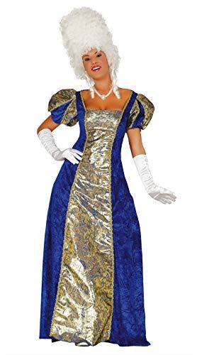 FIESTAS GUIRCA Disfraz Azul Mujer Noble condesa marquesa Talla l