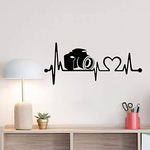 AGiuoo Calcomanías de vinilo para pared de cámara Heartbeat extraíbles, para pared, diseño de líneas de vida, 57 x 24 cm