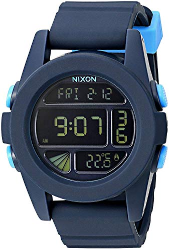 Nixon Herren Digital Uhr mit Silikon Armband A197-2224-00