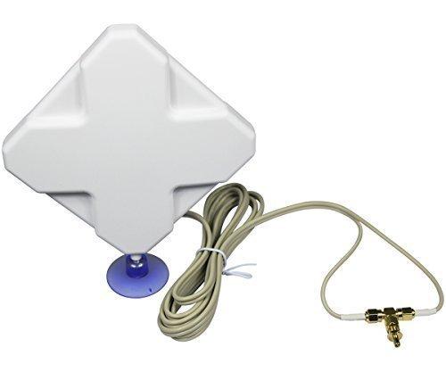 ESUMIC? 35DBI 3G 4G LTE TS9 SMA External Antenna for Huawei B970 B593 B933 E398 E3276 E5776 Router Mobile Broadband