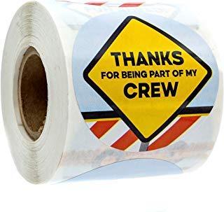 "2"" Construction Birthday Stickers / 250 Construction Stickers per Roll / 8 Different Birthday Construction Stickers"