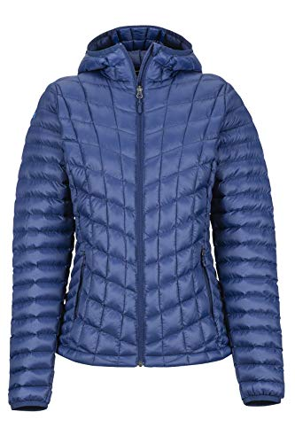 Marmot Damen Ultra-leichte Isolierte Winterjacke, Warme Outdoorjacke, Wasserabweisend, Winddicht Wm's Featherless Hoody, Arctic Navy, M, 79090
