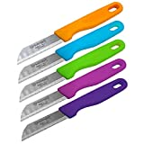 Care4You 5X Solingen Schälmesser Set Obstmesser Gemüsemesser Küchenmesser,...