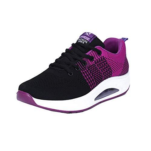 Mujer Zapatillas de Deporte Cuña Zapatos para Correr Plataforma Sneakers con...