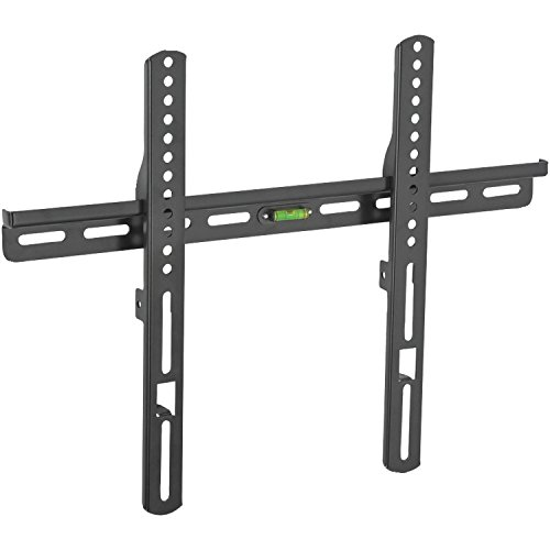 Atlantic Low-Profile TV Wall Mount - Fixed Mount for Flat Screen TVs & Monitors 25 to 37 inch with 6 Foot HDMI Cable, Cable Ties and Leveler, PN63607078