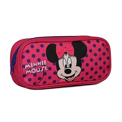 Trousse scolaire rectangulaire Disney Minnie Rose Bagtrotter