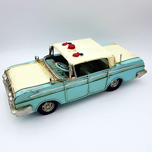 DynaSun Art - Maqueta de coche de época vintage, metálica, de colección, estilo retro antiguo, escala 1:20, 25 cm