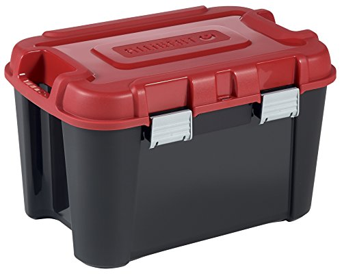 Allibert 229195Totem Transportcase, schwarz/rot, Kunststoff, 59,6x 39,5x 37cm, 60l