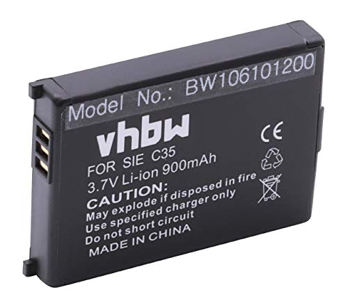 vhbw Akku passend für Telekom Sinus 700m, Siemens S35, S35i, C35 Handy Smartphone Telefon - (Li-Ion, 900mAh, 3.7V)
