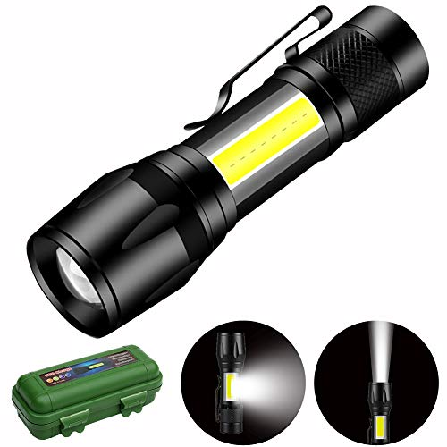 Mini LED Alta Potencia Linternas para Ciclismo Camping, Portátil Linterna 500 Lúmenes 3 Modos USB recargable Linterna de Alto Rendimiento, Linternas Táctica Militar para Ciclismo Camping Montañismo