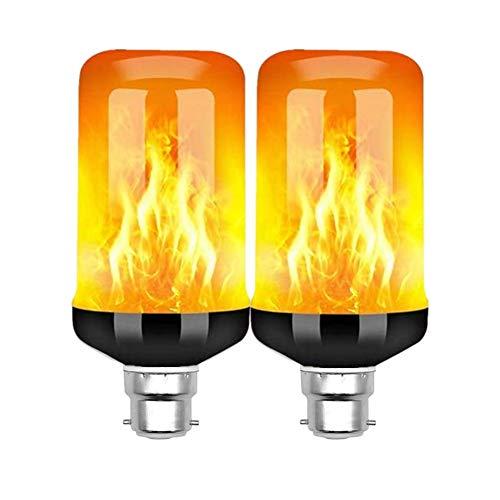 othulp Led Flame Effect Light Bulb Flickering Light Bulb Small Bayonet Light Bulb Led Flame Effect Flickering Fire Light Bulb With Gravity Sensor 4 Lighting Modes
