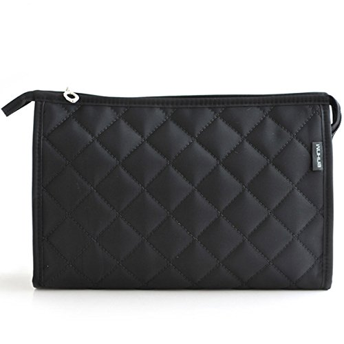 LittleStar Cosmetics Pouch Travel Case Make up Bags for Lady Accessory Organizer (Black)