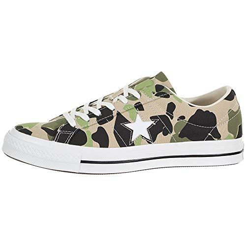 Converse One Star OX Canvas-Sneaker angesagte Herren Low Top Schuhe Skaterschuhe Freizeit-Schuhe Camouflage, Größe:44