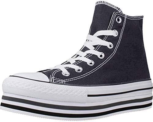CTAS Platform Layer HI Zapatos Deportivos Mujer Negro 564486C