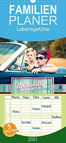 Rockabilly - Back to the 50s - Familienplaner hoch (Wandkalender 2021, 21 cm x 45 cm, hoch)