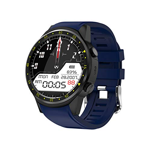 JXFF GPS Smart Watch Hombres Y Mujeres Altura Monitoreo Monitoreo Cardíaco Paso Recordatorio Recordatorio Smart Round Pulsera para Android iOS Watch Teléfono,A