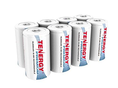 8 pcs of Premium Tenergy D Size 10,000mAh High Capacity High Rate NiMH...