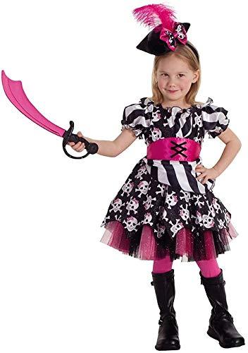 Mottoland Disfraz infantil de Abigail el pirata para carnaval, talla: M