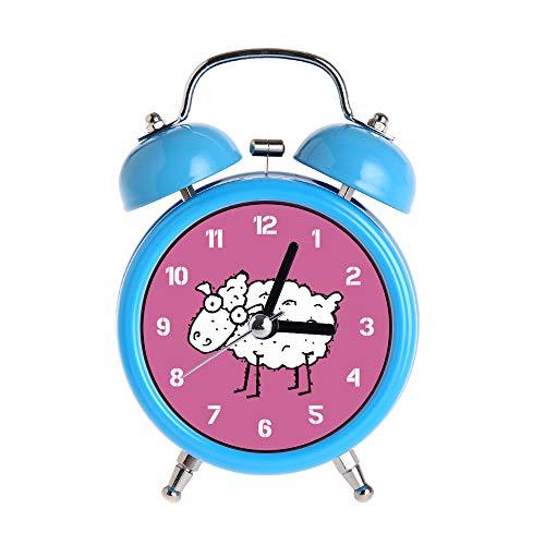 PAEEG - Despertador para niños, diseño de ovejas y ovejas, color azul