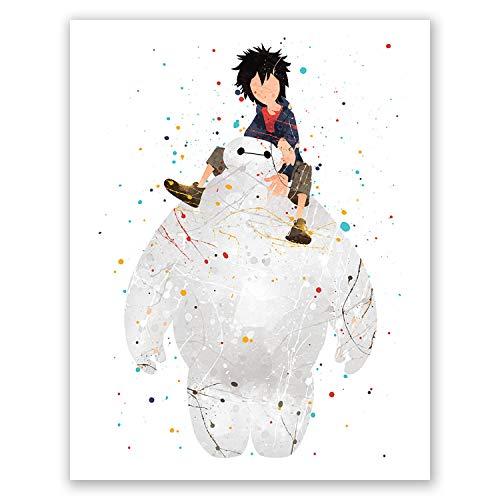 Baymax Poster – Big Hero 6 Kinderzimmer-Dekoration – Home Wall Art Print – Party Dekoration – Geburtstag Dekoration – Kinderzimmer Baby Bild 8x10