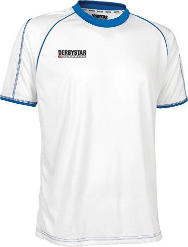 Derbystar 61520 Energy Maillot de Sport à Manches Courtes Unisexe Blanc Blanc/Bleu 116/128