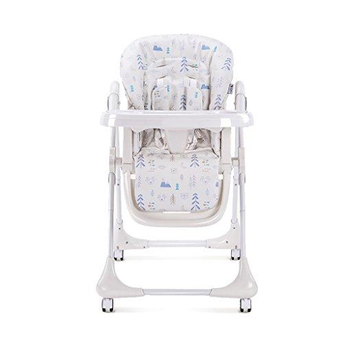 Bébé Enfant dinant la Chaise bébé Mangeant la Chaise dîneur de bébé Chaise Pliante légère de bébé Tabouret de bébé protègent la Chaise de Votre bébé (Color : Blanc, Size : 58cm*85cm*108cm)