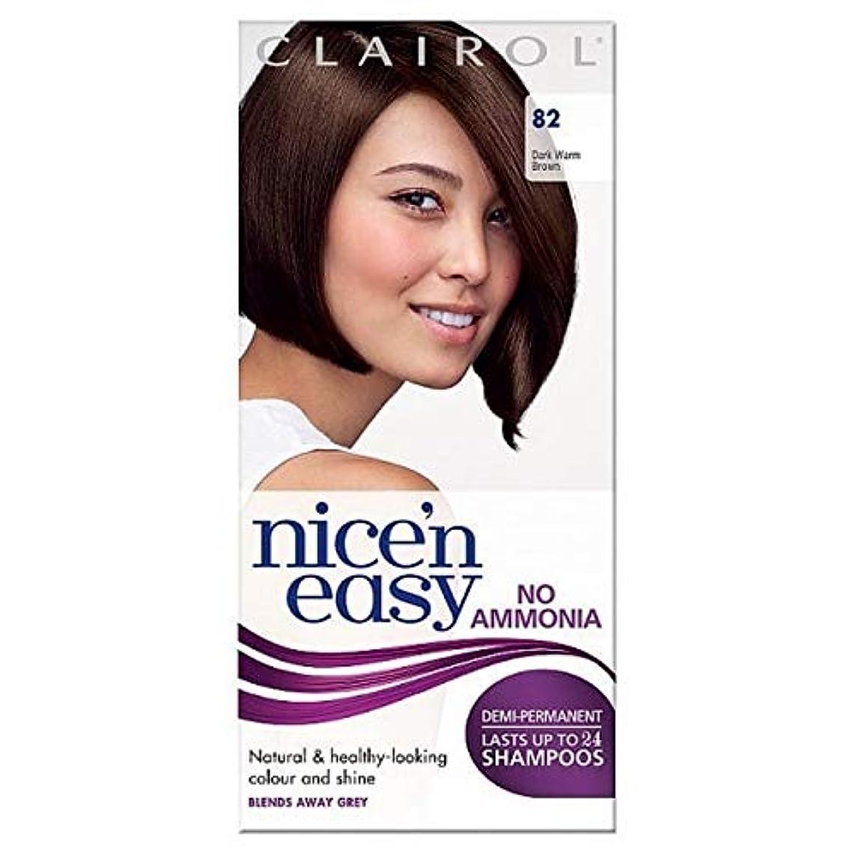 群集免疫するキャビン[Nice'n Easy] Nice'N簡単に無アンモニア毛染めダークブラウン暖かい82 - Nice'n Easy No Ammonia Hair Dye Dark Warm Brown 82 [並行輸入品]