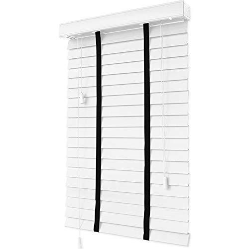 Jalousien Weiß Holz Jalousie für Home Office Privacy Light Protection, 50mm Lamellen, 60cm / 80cm / 100cm / 120cm / 140cm Breite (Size : 120x120cm)