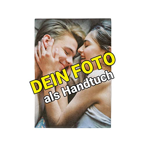 Carpezz Handtuch Bedruckt mit eigenem Foto 70 x 140cm| Badetuch selbst gestalten