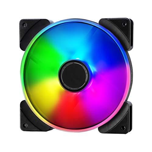 Fractal Design Prisma AL-14 PWM Lüfter Dreier-Pack, Individuell Einstellbare RGB-LED's, Anpassbare Lüftergeschwindigkeit, Weiß/Schwarz