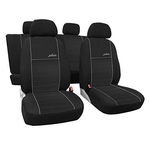 Saferide | Universal Grau Sitzbezüge Komplettset Sitzbezug für Auto Sitzschoner Set Schonbezüge Autositz Autositzbezüge PKW Sitzauflagen Sitzschutz Gallante VIP