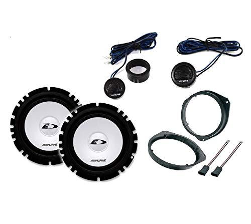 Kit 4 Casse Per Fiat Grande Punto Qualità Con Adattatori E Supporti Altoparlanti Alpine Predisposizione Anteriore