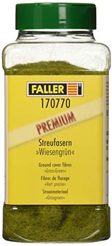 Faller FA 170770 - Fasern Wiesengrün Großpackung, Zubehör für die Modelleisenbahn, Modellbau, 80 g