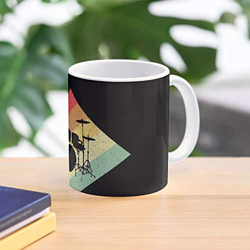 Drums Drum Set Vintage Drumming Drummer Retro Percussionist Snaredrum Meistverkaufte Standardkaffee 11 Unzen Geschenk Tassen für alle
